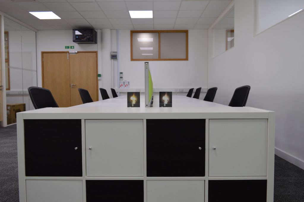 Hot desking space at IncubyteSpace