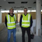 Crispin Moller and Rob Precious at the Incubyte building site